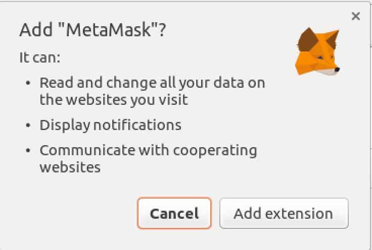 Add Metamask extension