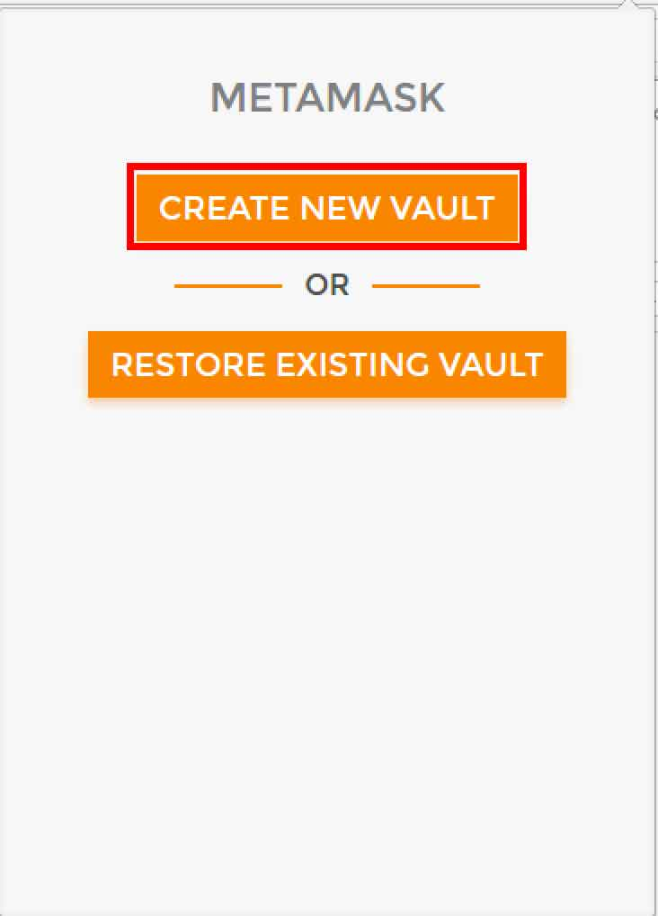 CREATE NEW VAULT